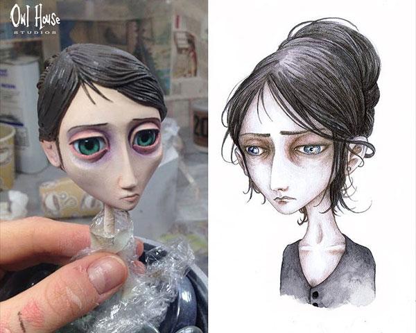 Concept Art Woman Sketch