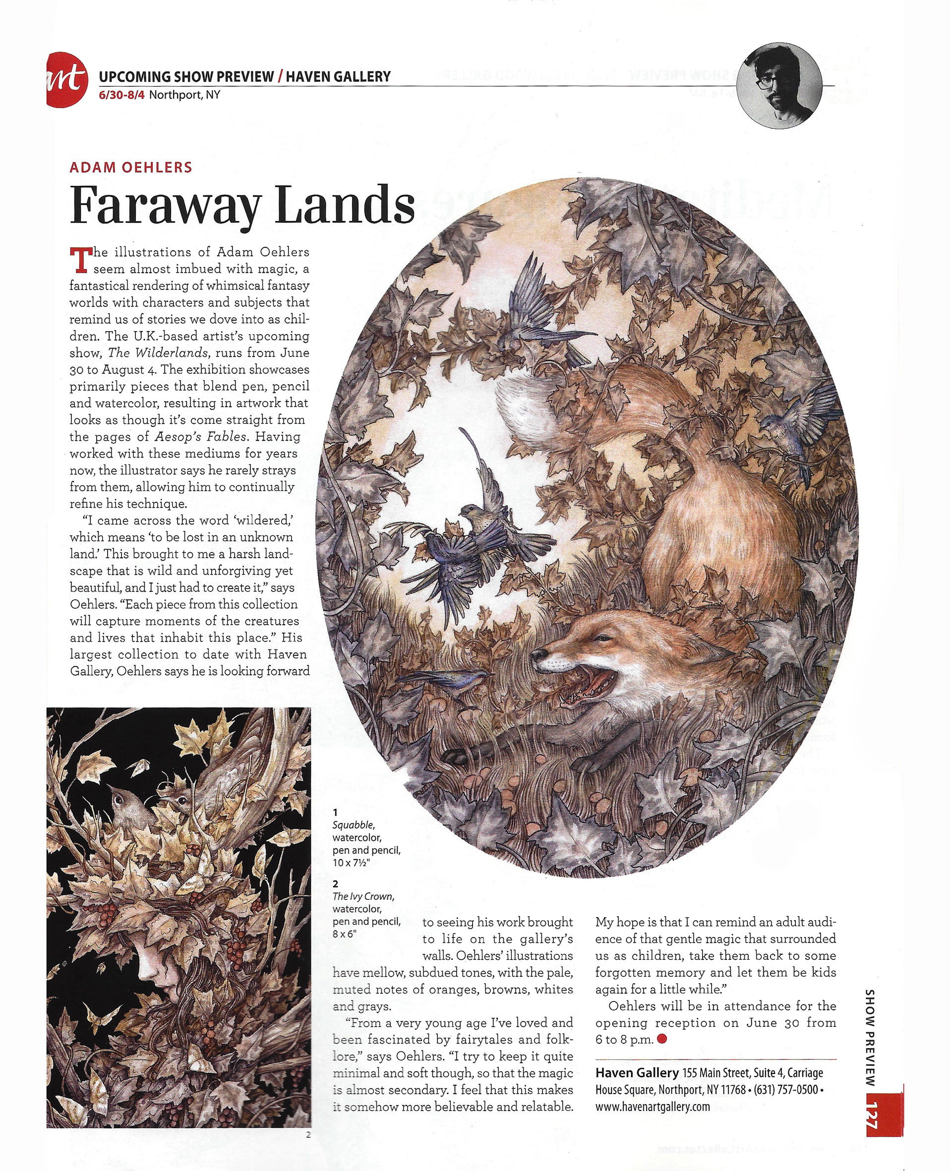 'The Wilderlands' Americal Art collector Magazine